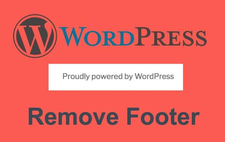 Как удалить нижний колонтитул, созданный на WordPress?  »WebNots