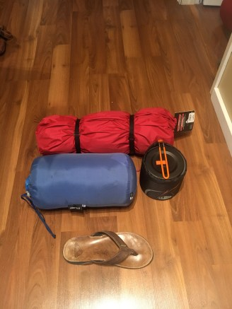 Everything packed down with professional flip flop scale