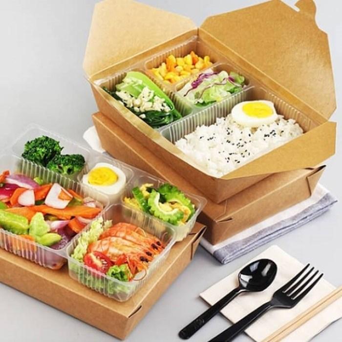 Hộp đựng thức ăn từ giấy kraft vẫn giữ được độ tươi ngon và an toàn cho sức khỏe