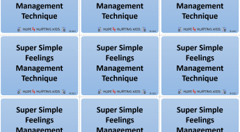 Super Simple Feelings Management Technique Activity Cards