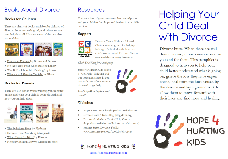 Helping Your Child Deal With Divorce - Hope 4 Hurting Kids