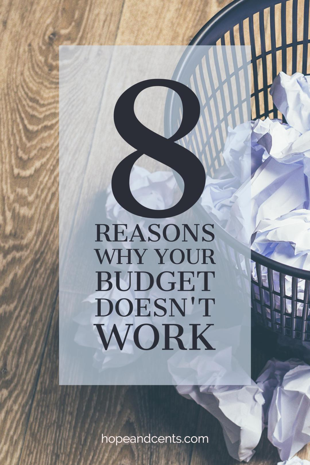 There are many reasons why some approaches to budgeting don't work, leading us to give up or avoid the process altogether. If you've attempted to live on a budget only to declare they don't work, read on!