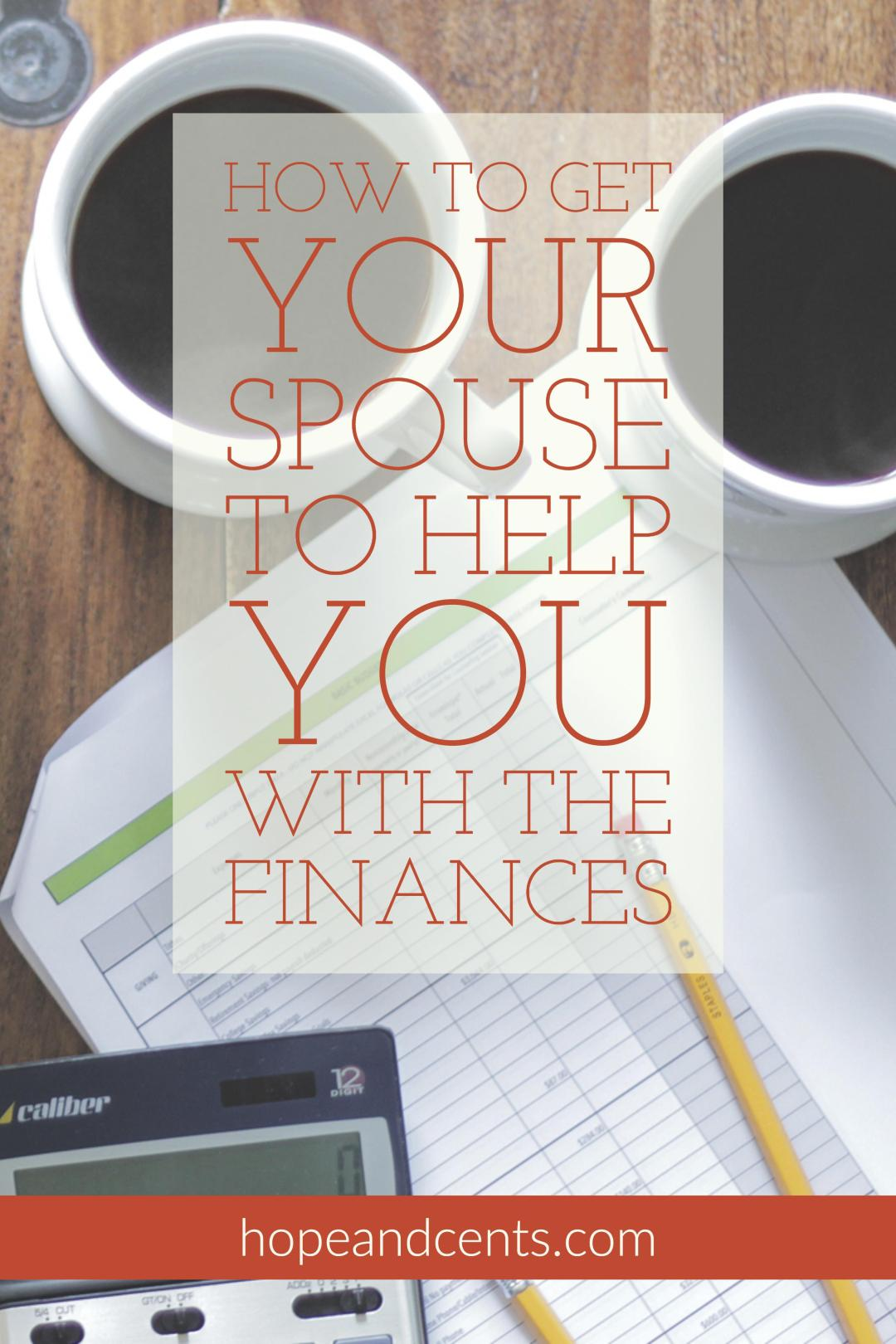 Do you have a hard time getting your spouse to help you with the bills? These tips will help you learn how to work together as partners and finally get on the same page when it comes to managing your money. #moneytips #money #personalfinance #marriage