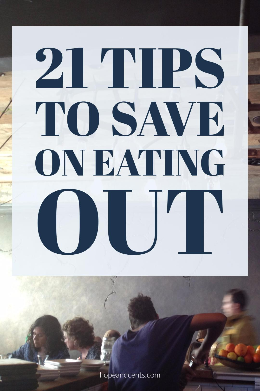 Eating out can be a huge budget buster. Be frugal and save money on eating out with these tips.