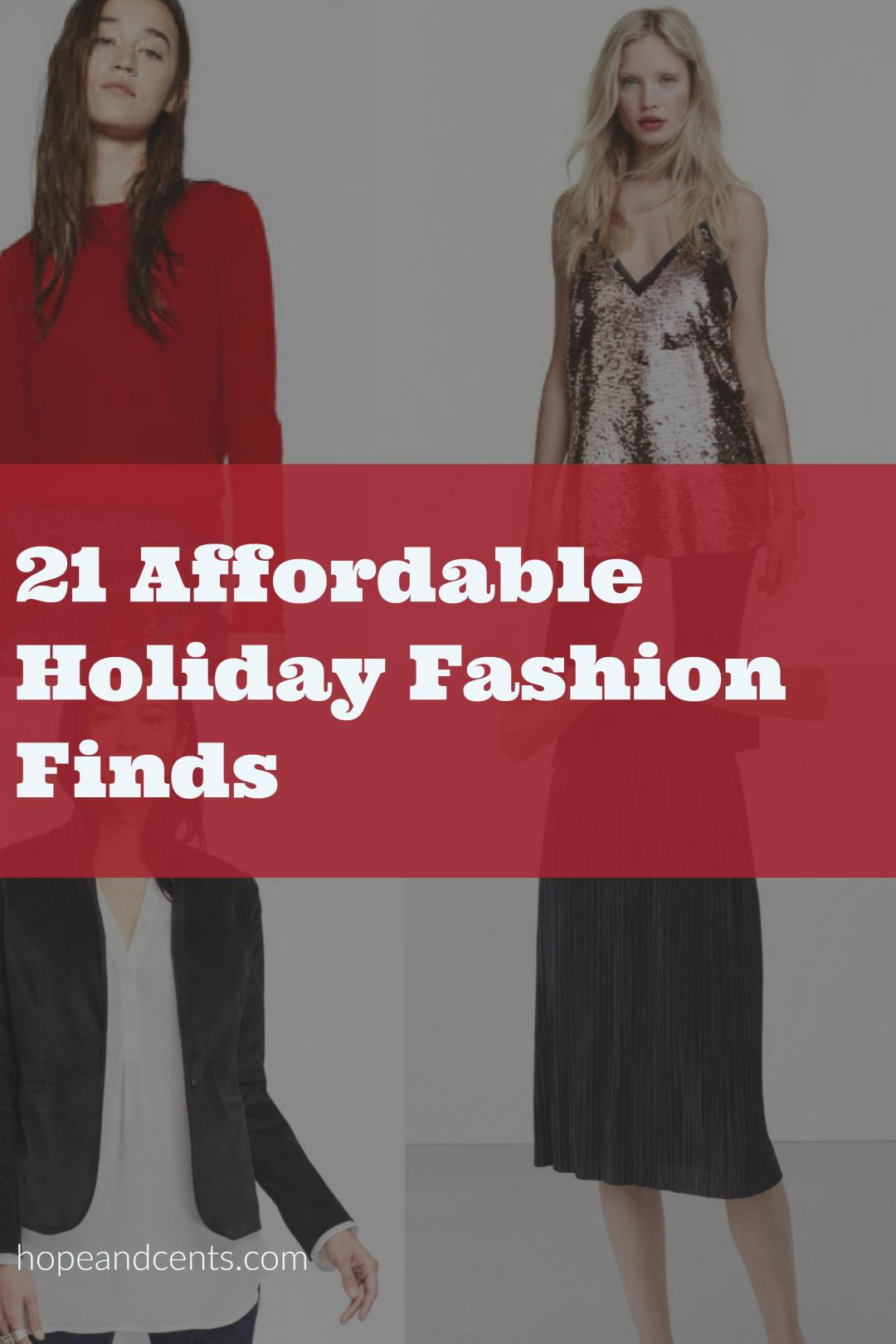 Need something to wear this holiday season? Check out these affordable and frugal holiday styles. These are so cute and most are under $50.