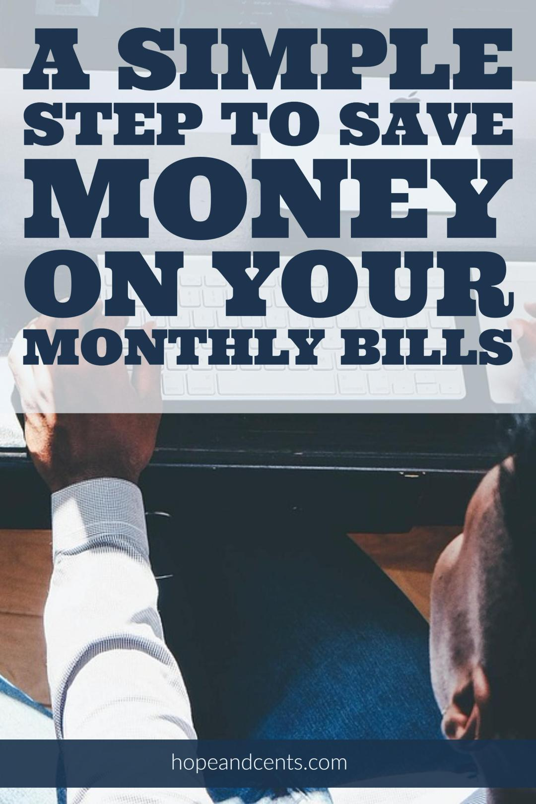 Are you looking to save money on your monthly bills? I love this simple step to take that will save money and stretch any budget further. | saving money | how to save money | how to spend less | frugal living | #money #finance #frugal #frugaliving #budgeting