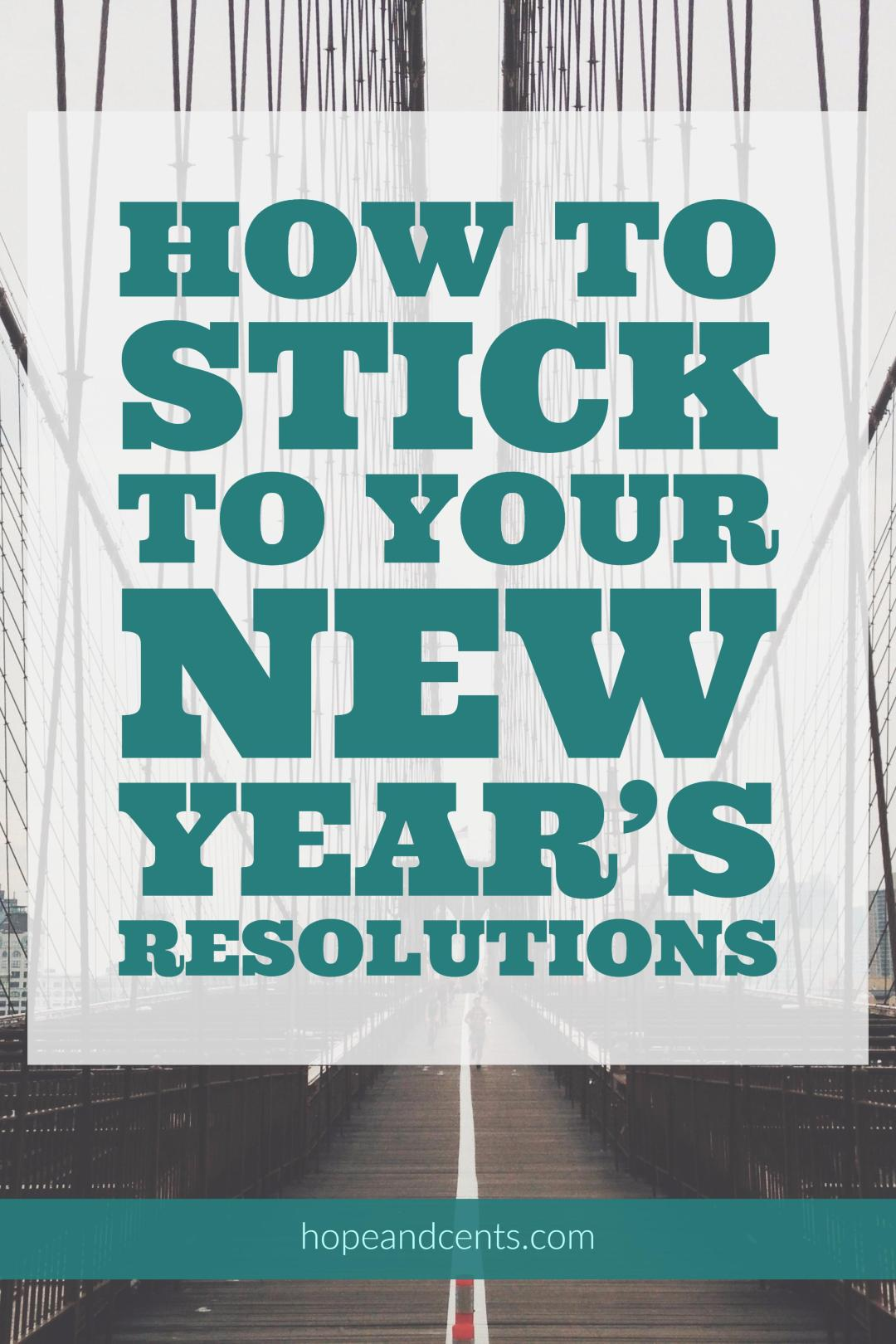 Have you made New Year's Resolutions in the past only to give up on them? Make this year different with these tips on making goals.