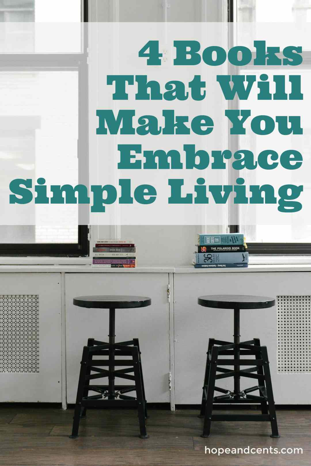Are you looking to simplify? Are you intrigued by minimalism? These books will inspire and encourage you to find your path to simple living. #simpleliving #minimalism #minimalist #books