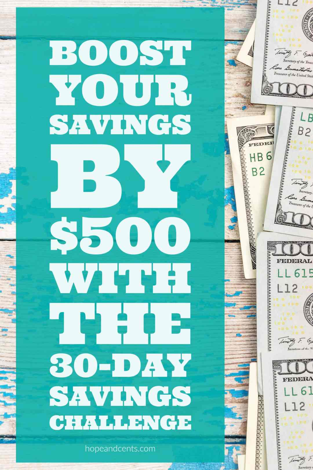 Love this savings challenge! Save more money by aiming to save $500 in 30  days