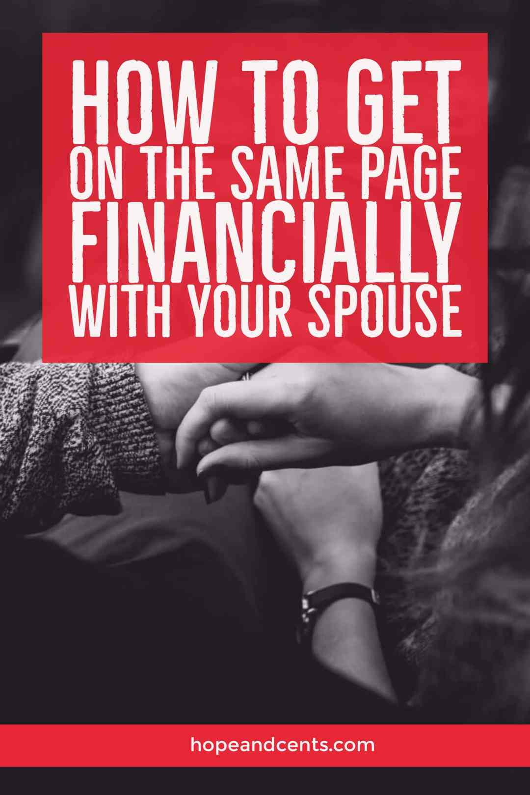 Do you have a spouse that won't work with you on the finances? Are you always arguing about money? Love these tips about how to get on the same page financially with your spouse!