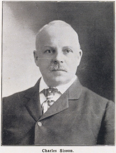 1901 Portrait of Hope Webbing Company Founder Charles Sisson