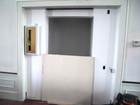 waiting for new doors to be hung
