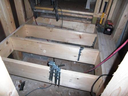 new framing of lower level platform