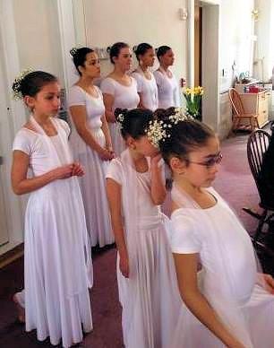 Easter dancers