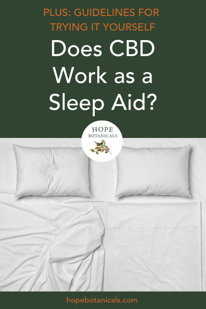 Is CBD an effective sleep aid?