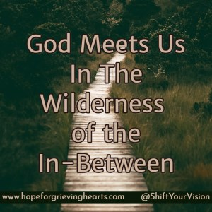 "We think of the 'in-between' as the hard place between two happy seasons of life. ""In-between"" indicates lack. There is no lack of God in the In-Between"
