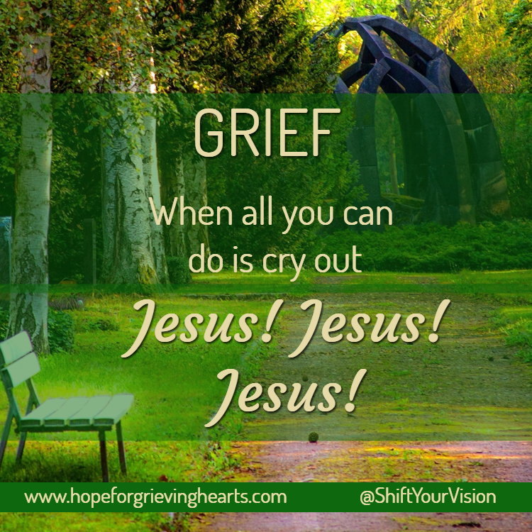 "Grief: When all you can do is cry out ""Jesus!Jesus!Jesus!"""