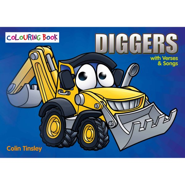 Diggers Colouring Book