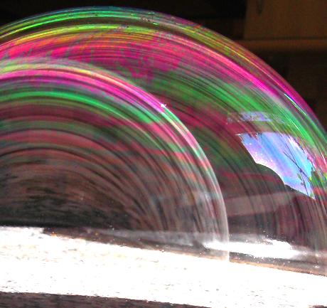 rainbows in bubbles