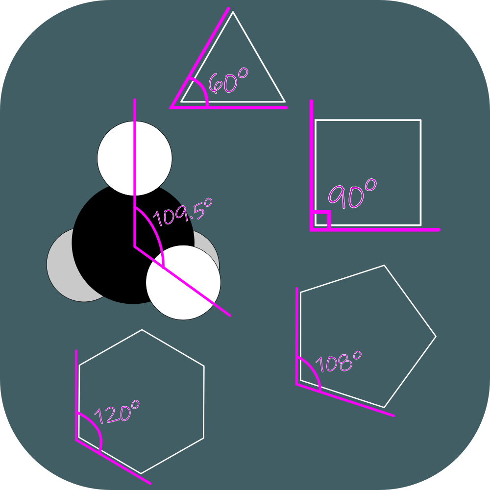 bond angles in methane