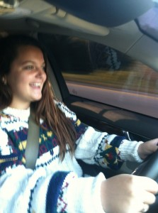 Hannah driving I-95 11-20-12