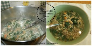 tasty tuesday: italian wedding zuppa