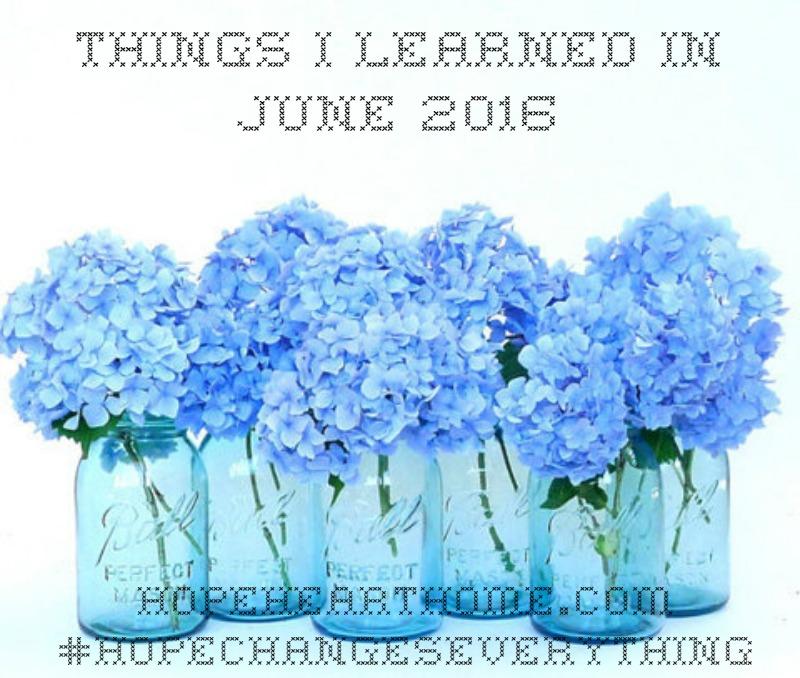 HHH Things I Learned Jun_2016