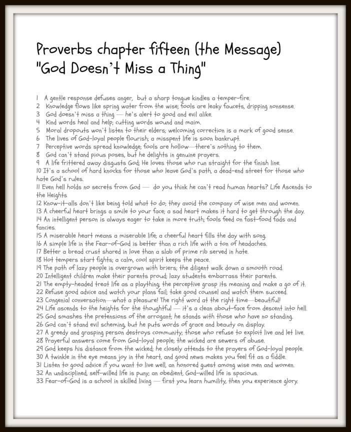 Proverbs 15 Printable