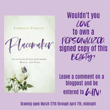 Placemaker - a Giveaway!