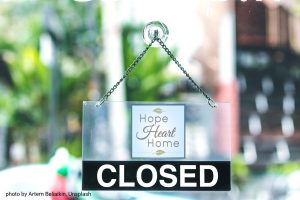 HopeHeartHome is Closed!