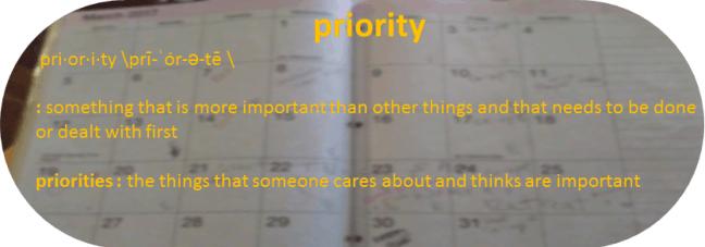 Define Priorities