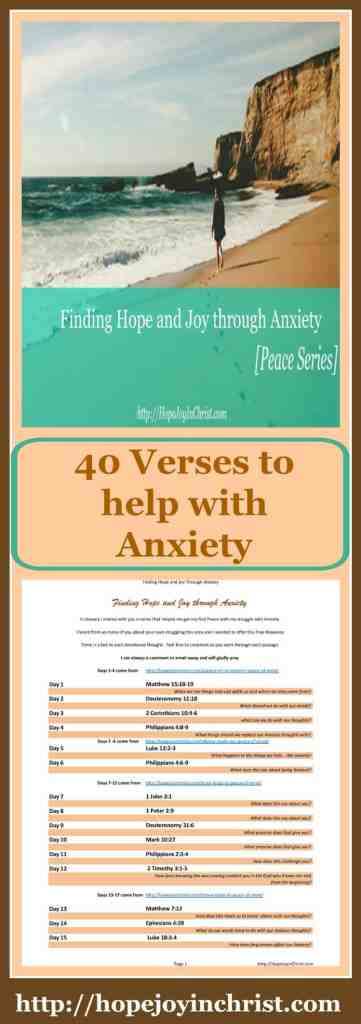 40 Verses To Help With Anxiety [Finding Hope and Joy through Anxiety]