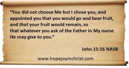 God chose You