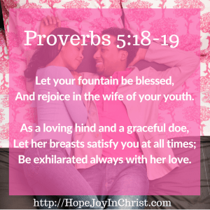 Proverbs 5:18-19 (Sex in Christian Marriage, Biblical Wifehood (Reclaiming Hope & Joy in your Marriage))