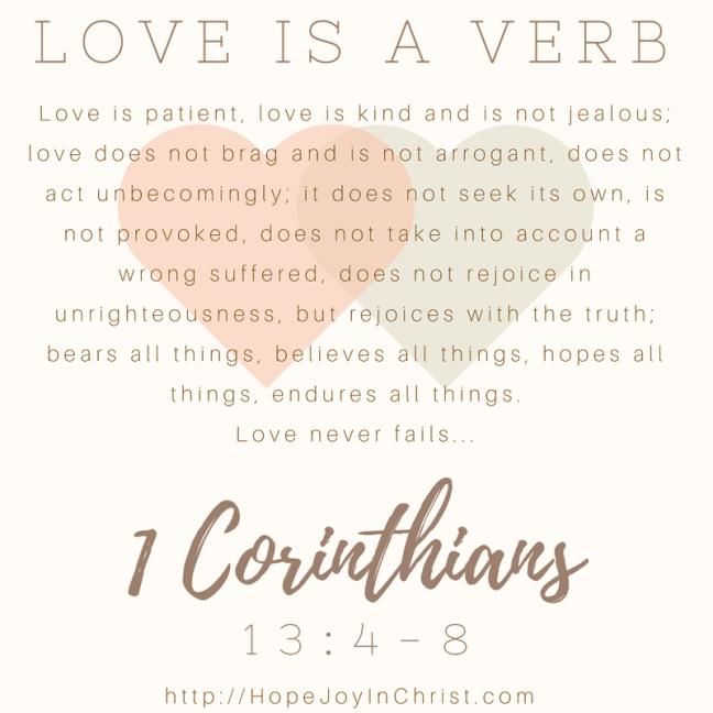 Love is a Verb 1 Corinthians 13:4-8