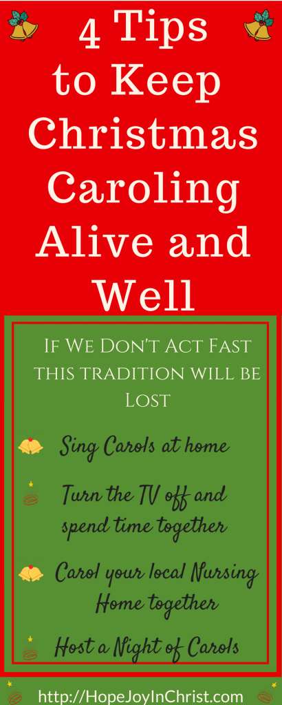 4 Tips to Keep Christmas Caroling Alive and Well - Free Printable Christmas Carol Lyrics (#FreePrintable #ChristmasCarol #HolidayIdeas #ChristCenteredChristmas)