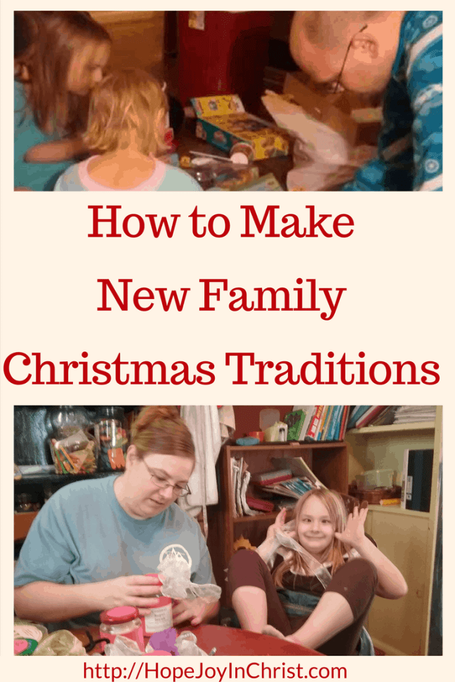 How to Make a New Family Christmas Tradition PinIt (#Advent #ChristianChristmas #ChristmasTraditions)