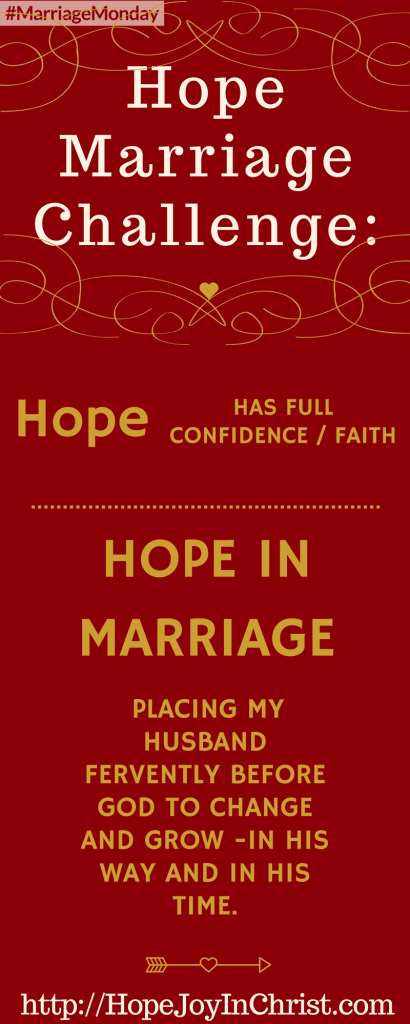 Hope All Things Marriage Challenge - Love Can Hope All Things in Marriage PinIt (#MarriageMonday #ChristianMarraigeHelp #BiblicalMarriageAdvice #ChristianLiving #1Corinthians13)