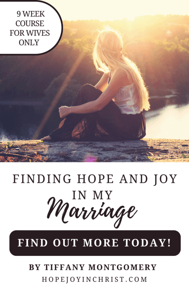 Finding Hope and Joy in My Marriage Online Marriage Course for Wives Only PinIt ( #findinghopeandjoyinmymarriage #ChristianMarriage #ChristianMarriageadvice #BiblicalMarriage #Relationshipadvice #ChristianLiving #HopeinMarriage )