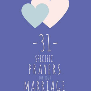 31 Specific Prayers for Your Marriage e-book. Each of the 31 devotions provides a Bible passage or two to focus on God's truth, a specific prayer based on the Scriptures, and a simple step of faith to encourage tangible action in your journey of prayer. This prayer devotional for marriage is sure to bless your relationship. #Giveaway #ChristianBooks #BibleStudy #ChristianMarriage #JoyInMarriage