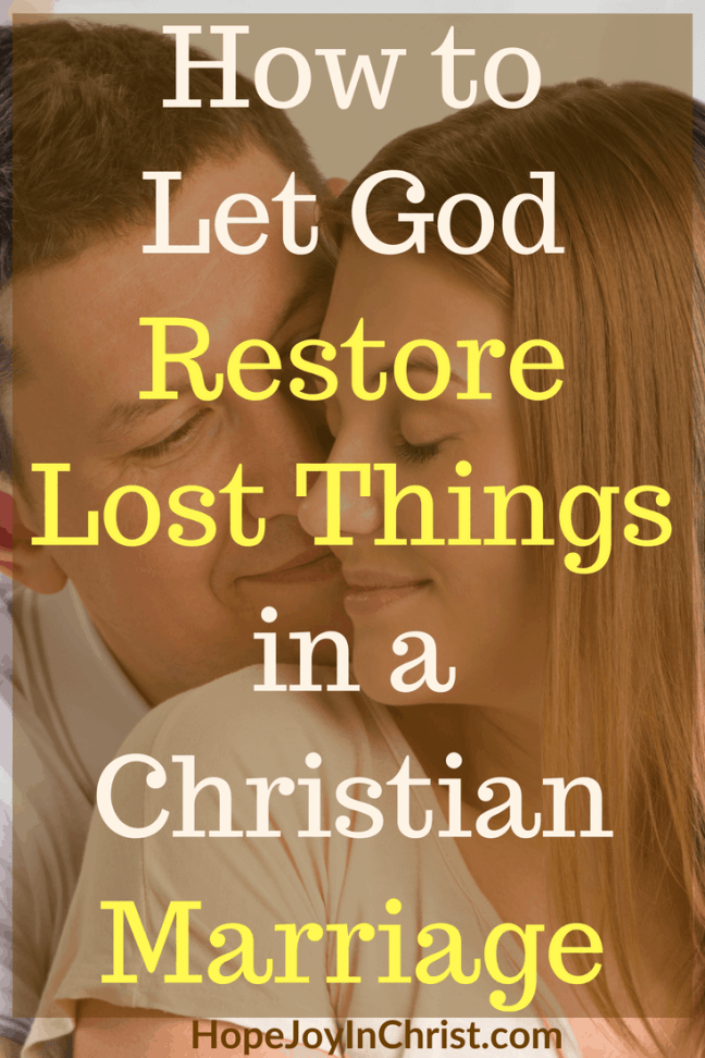 How to Let God Restore Lost Things in a Christian Marriage Pintit #LostHope #LostRing #HopelessMarriage #UngodlyHusband #LostHopeInLove #hopelessquotes #StrongMarriage