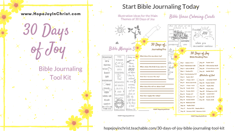 30 Days of JoyBible Journaling Tool Kit FB #BibleJournaling #IllustratedFaith #BibleJournalingForBeginners #BibleJournalingIdeas