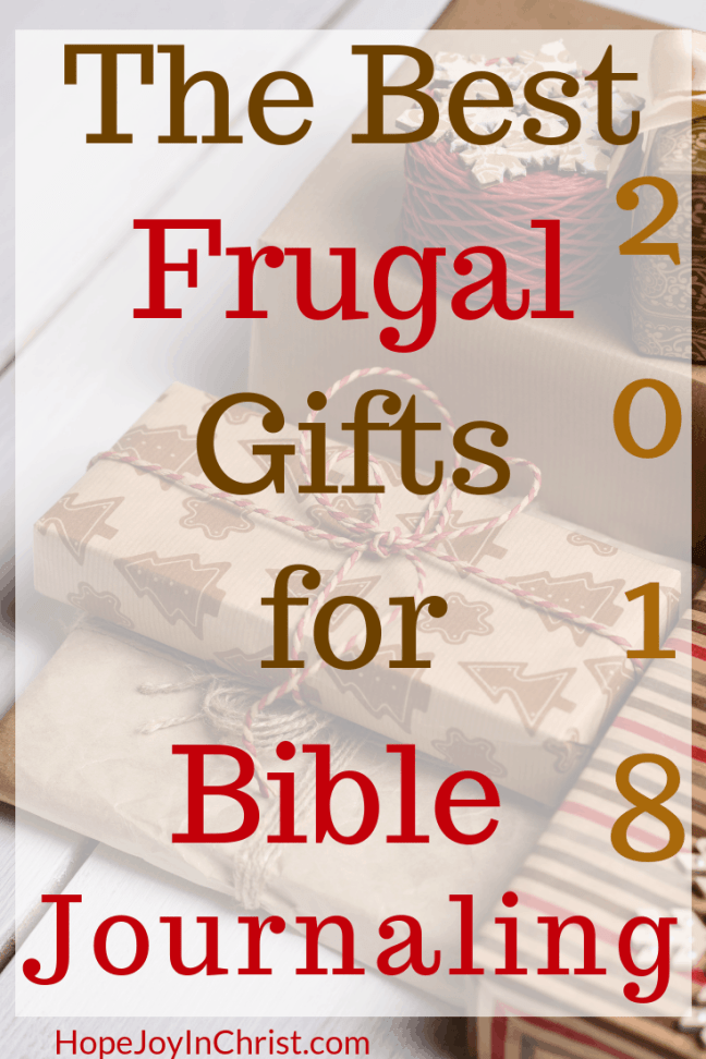 This is the 2018 Best Frugal Gifts for Bible Journaling #GiftGuide #BibleJournalingIdeasForBeginners Some Bible Journaling Tips all included in a Christmas gift ideas list to help you stay on a Christmas Budget