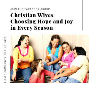 A Safe Community to find Hope - Christian Wives Choosing Hope and Joy in Every Season to have a Successful Marriage