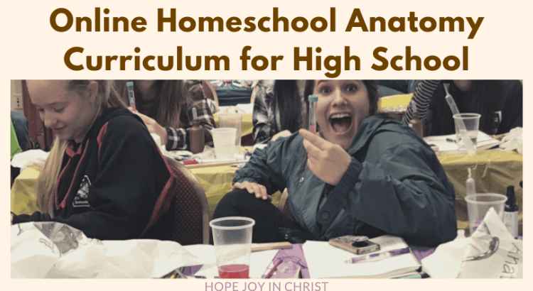 Online Homeschool Anatomy Curriculum for High School, learn human anatomy online, human body anatomy online, study the human body, The precepts of anatomy and physiology, Freebies for homeschool moms, anatomy curriculum for high school students, #Homeschool #HopeJoyInChrist
