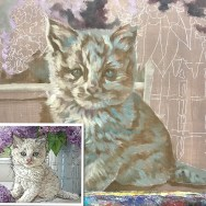 How a Painting of a White Cat Starts