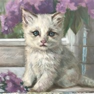 White Cat Painting Takes Shape