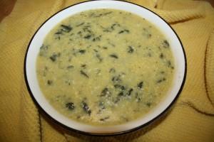 Creamy Polenta and Kale Soup