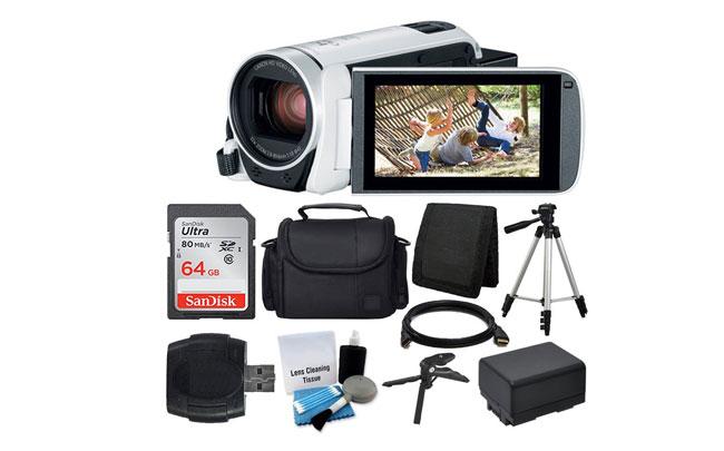 Canon Vixia HF R800 camcorder white Vlogging Camera