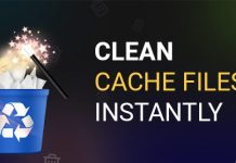 Clean Cache Files Instantly